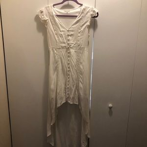 White Hi/Lo Dress